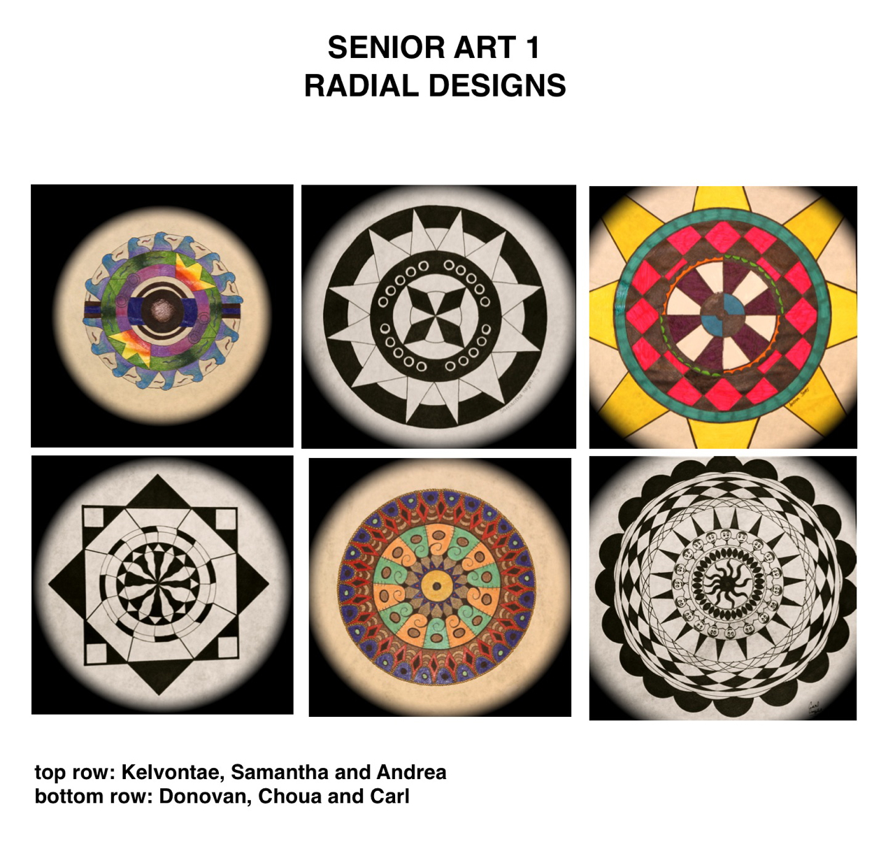 Radial Design Art : Senior art radial designs