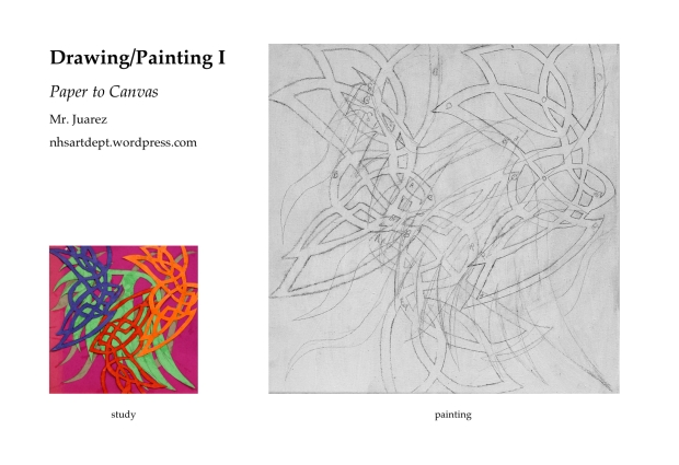 Paper to Canvas Drawing Painting I