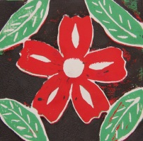 Reduction Relief Cut Print by Natalie M