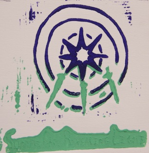 Reduction Relief Cut Print by Peter X