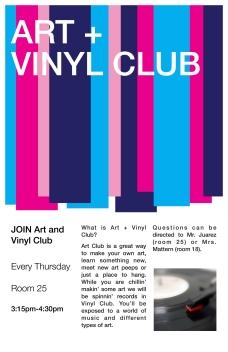 Art+Vinyl Club Poster