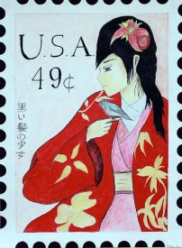 USPS Postage Stamp by Kacey