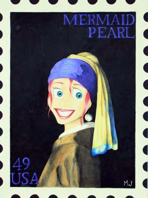 USPS Postage Stamp by Mikayla