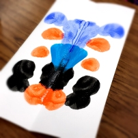 Art Foundations 4 working on Rorschach Prints