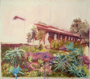 """Mission Garden,"" the first in a new series of paintings by Liz Ann Lange."