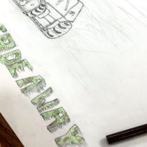 Drawing/Painting I typography in progress