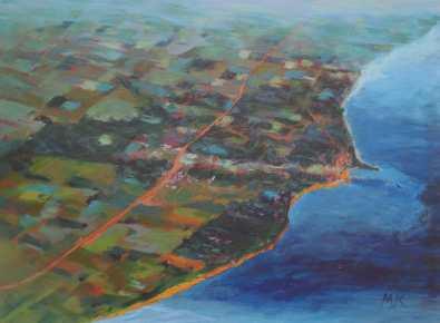 "Shoreline, acrylic on canvas, 18""x24"", 2016"