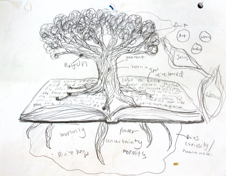 Preliminary sketch by Annemarie